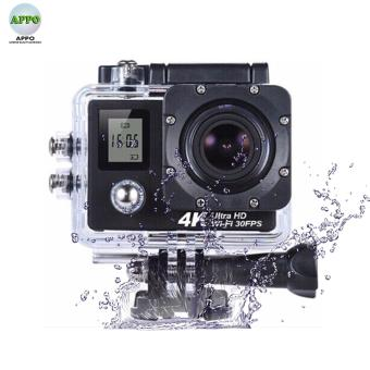 APPO W9D Dual Screen Ultra HD 4K 1080P 12MP WIFI Waterproof MiniSports Action Camera (Black)