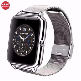 APPO Z60 Bluetooth Smart Watch Phone With SIM and TFSlotsCard(Silver)