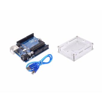 Arduino Uno R3 Motherboard with Acrylic Case + USB Cable