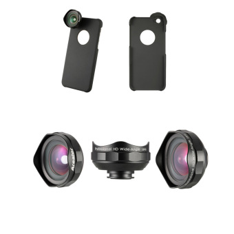 Arealer Professional Universal 18MM Wide Angle Cell Phone CameraLens Kit Wider Landscape High Clarity No Distortion No Dark Circlefor Smartphones with Case for iPhone 6 / 6S and Clip - intl - 4