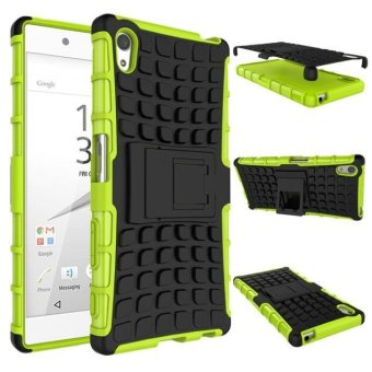 Armor Rugged Hybrid Stand Cover Case For Sony Xperia Z5 Green -intl