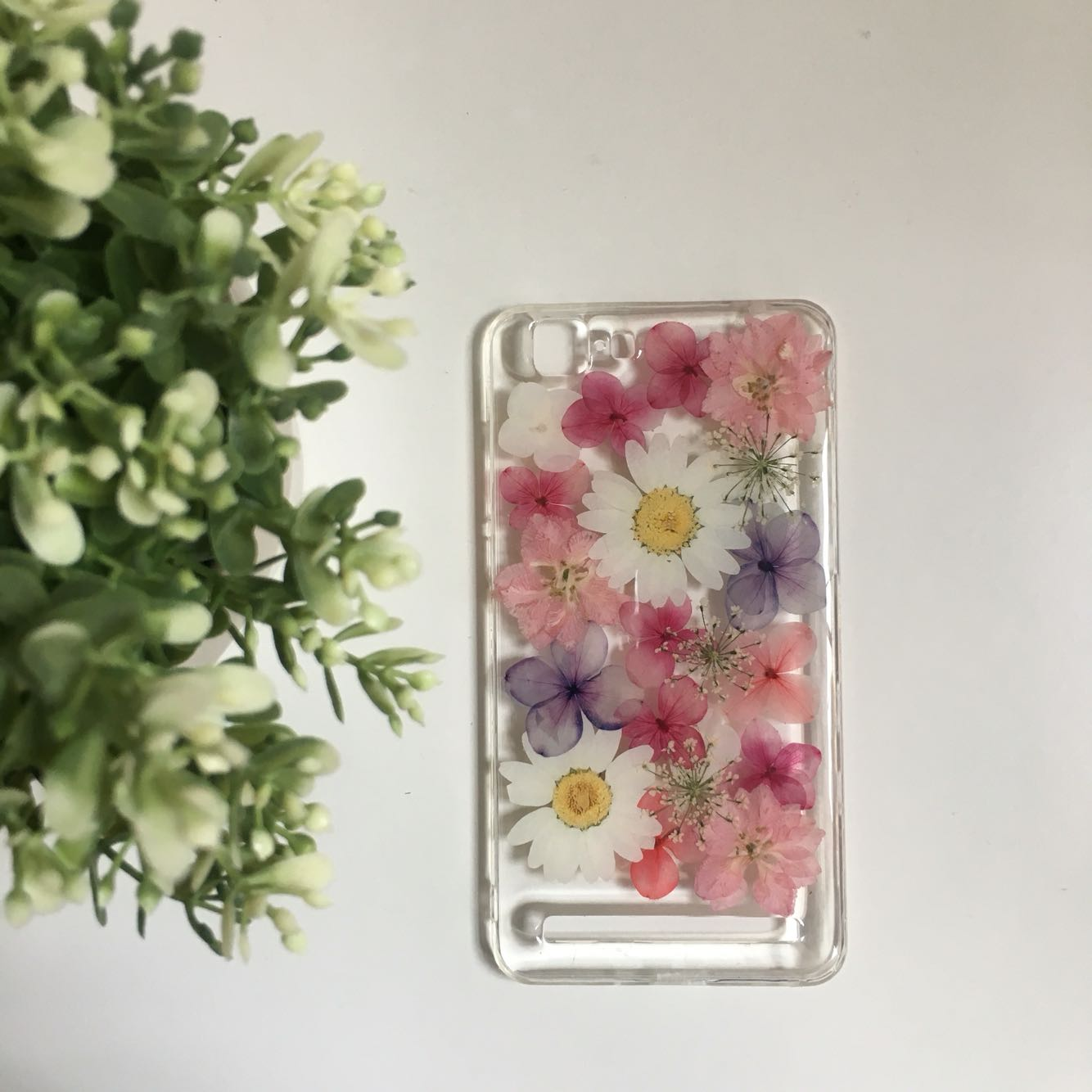 Philippines Artistic Dried Flowers Real Flowers Full Phone Case
