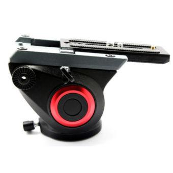 ASHANKS FH2 8KG Load Fluid Head for Monopod Track Slider Video DSLRCamcorder - 2