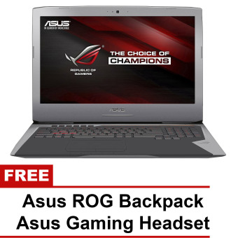 "Asus ROG G752VY-GC228T 17.3"" Intel Core i7-6820HK 1TB HDD + 512GB SSD Windows 10 Gaming Laptop with Free Asus ROG Backpack and Asus Gaming Headset"