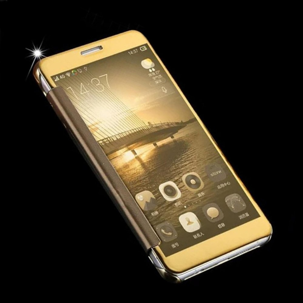 ... Asuwish Luxury Flip Case Transparent Clear View Mirror Cover Phone Cases For Samsung J7 Prime ...