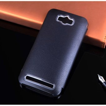 Asuwish Smart View Asus Phone Cases Flip Cover Luxury Leather Case For Zenfone Max ZC550KL .