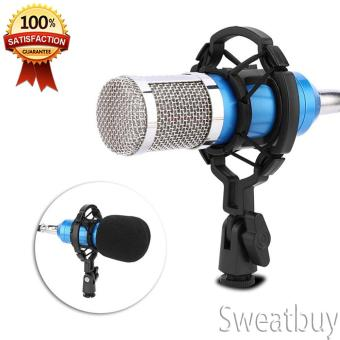 Audio Condenser Microphone Recording Mic with Shock Mount - intl Price Philippines