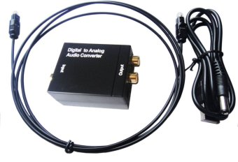Audio Converter Adapter DAC Optical Digital Signal to Analog RCA Coaxial Toslink