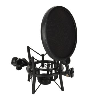 Audio Professional Condenser Microphone Mic Studio Sound RecordingW Shock Mount + Pop Shield Filter Screen Spray Guard
