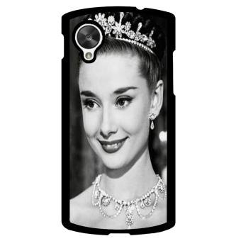 Audrey Hepburn Pattern Phone Case for LG Nexus 5 (Black)