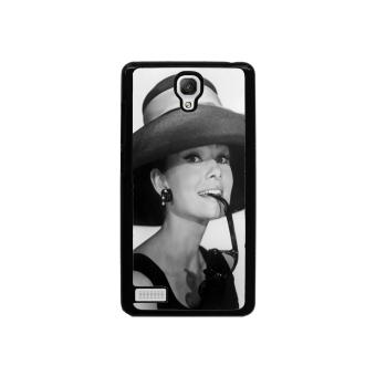 Audrey Hepburn Pattern Phone Case for Xiaomi Redmi Note (Black)