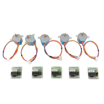 Aukey 5pcs Stepper Motor 28BYJ-48 Module Board for Arduino