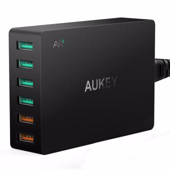 Aukey 6-Port Charging Station with Quick Charge 3.0 - Black - 2