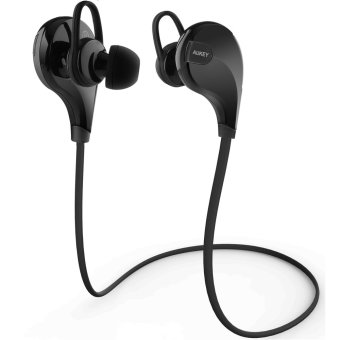 Aukey EP-B4 Bluetooth 4.1 Wireless Stereo Sport Headphones withAptX, Built-in Mic for iPhone, Samsung, Android Smartphones (Black) Price Philippines