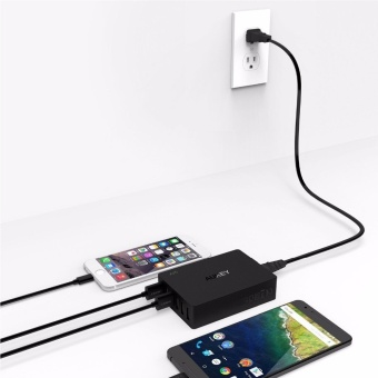 AUKEY PA-T11 6-Port USB 3.0 Travel Quick Charger Universal Charger(Black) uk us plug - intl - 4