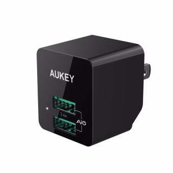 Aukey PA-U32 12W (2.4A) Home Travel Dual USB Charger Adapter