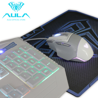 AULA OFFICIAL 2016S Backlit Gaming Mouse and Keyboard Combo(White) - 4