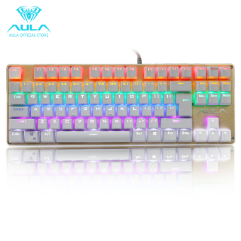 AULA OFFICIAL F2012 Mechanical Multicolor Backlit GamingKeyboard(Gold)