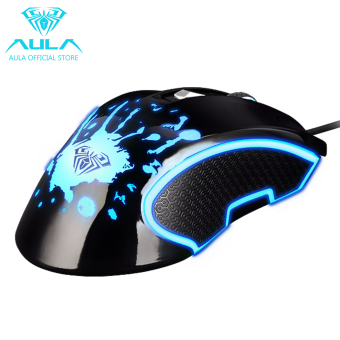 AULA OFFICIAL Sanction Optical Wired Colorful Backlight GamingMouse(Black) - 3