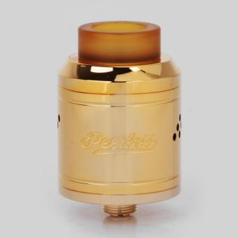 Authentic GeekVape Peerless RDA Special Edition RebuildableDripping Vape Atomizer - Gold, Stainless Steel, 24mm Diameter