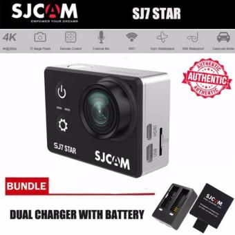 Authentic SJCAM SJ7 Star 4K SONY IMX117 2.0' Screen DisplayAluminum Housing Action Camera (Black) with SJCAM Dual Charger andSpare Battery Price Philippines