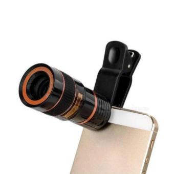 Auxis Universal Clip Telescope Lens Mobile Phone Lens camera lenses(Red) Price Philippines