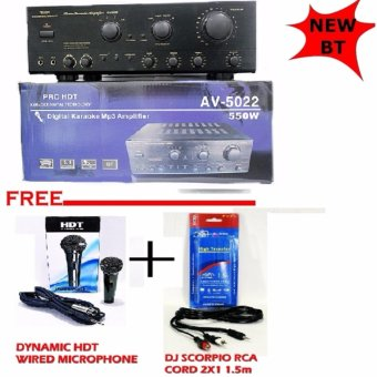 AV-5022 HDT Karaoke Amplifier COMES with BLUETOOTH Price Philippines