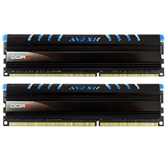 Avexir Core Series 8GB 1600MHz PC3-12800 DDR3 1.5V LED DIMM for Desktop (Blue) Set of 2