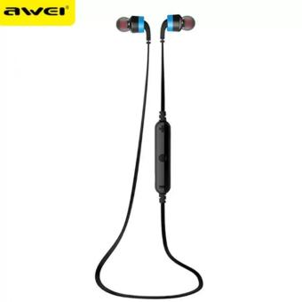 AWEI A960BL Noice Cancelling Bluetooth In-Ear Headphone Earphonewith Mic (Blue) Price Philippines