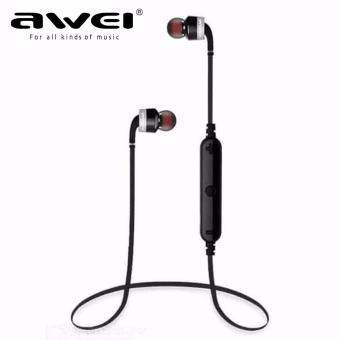 AWEI A960BL Noise Cancelling Bluetooth In-Ear Headphone Earphonewith Mic(Black) - 2