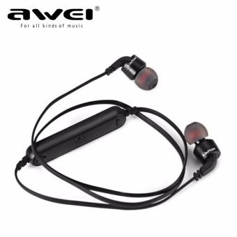 AWEI A960BL Noise Cancelling Bluetooth In-Ear Headphone Earphonewith Mic(Black) - 3