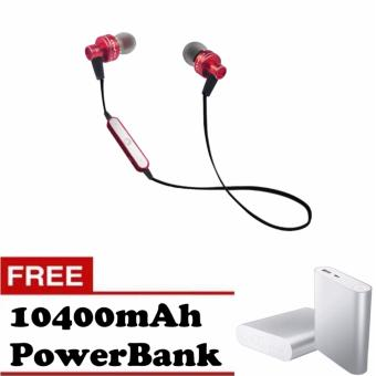 Awei A990BL Noise-Isolation Sweat-Proof Flat-Wire Wireless Bluetooth V4.0 Headset with Mic (Red) with Free 10400mAh Power Bank Price Philippines