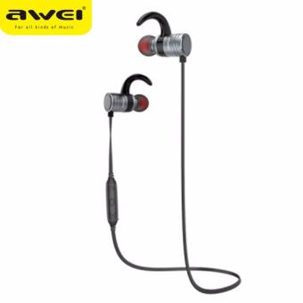 Awei AK7 Magnetic Switch Wireless Sports Earphone (Silver)