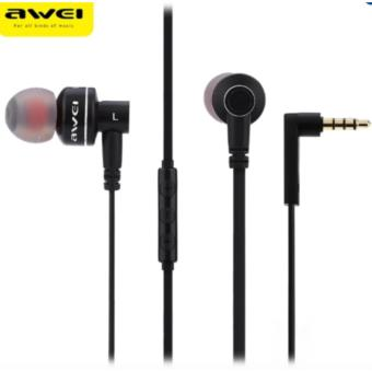 Awei ES-10TY 3.5MM Super Bass Noise Isolation In-ear Earphones(Black)