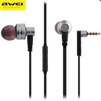 Awei Es-10Ty 3.5Mm Super Bass Noise Isolation In-Ear Earphones(Grey)