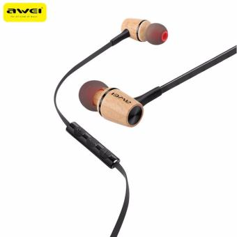 Awei ES-80TY Wooden Dynamics Earphones (Black) Price Philippines