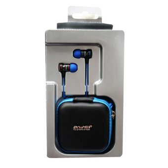 Awei TE200vi Extra Bass Power Earphones (Red/Blue) - picture 3