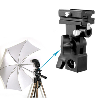 B Type Flash Adapter Trigger Umbrella Holder Swivel Light StandBracket Plastic universal flash bracket