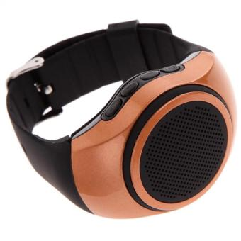 B20 Watch Style TF Card Portable Sport Bluetooth Speaker (Gold Brown)