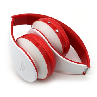 B203 Smart Card Stereo Headset Bluetooth Headset Wireless Headset (White/Red) - Intl - picture 2