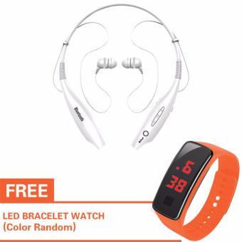 B9 In-ear Wireless Bluetooth Earphone(White) for Mobile Phones withFree LED Watch