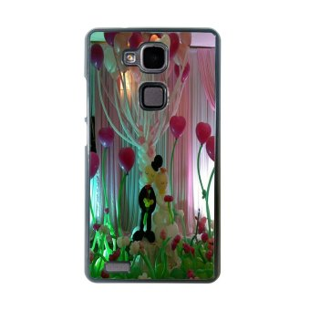 Balloon Pattern Phone Case for Huawei Mate 7 (Black)