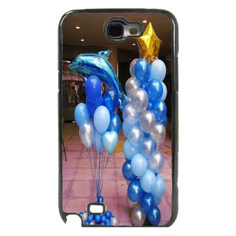 Balloon Pattern Phone Case For Samsung Galaxy Note 2 (Black)