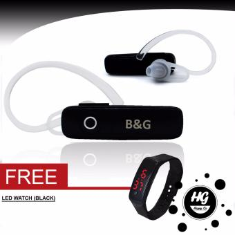 B&G Wireless Bluetooth Mono Headset (Black) free (LED watchBlack)