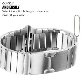 Band for Apple Watch Series 3 Series 1 Series 2 42mm Stainless Steel Strap - 4