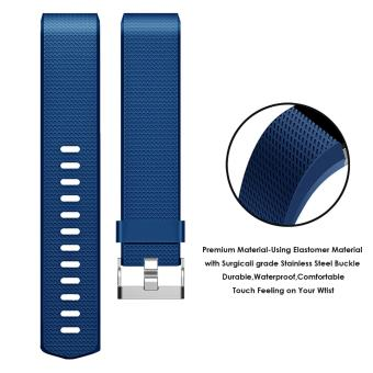 Band for Fitbit Charge 2 , Hanlesi Soft TPU Silicone Adjustable Replacement Sport Strap Band for Fitbit Charge2 Smartwatch Heart Rate Fitness Wristband - intl - 4