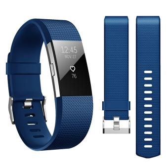 Band for Fitbit Charge 2 , Hanlesi Soft TPU Silicone Adjustable Replacement Sport Strap Band for Fitbit Charge2 Smartwatch Heart Rate Fitness Wristband - intl