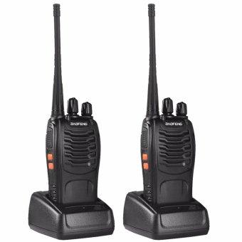 Baofeng 888S 5W 16Ch 400-470MHz Interphone Two-Way Radio Walkie Talkie (Black) Set of 2
