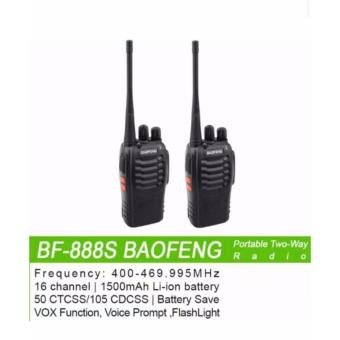 Baofeng BF-888S Portable Two Way Handheld Walkie Talkie (1pc)