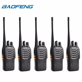 Baofeng BF-888s VHF/UHF FM Transceiver Portable Walkie Talkie Two-Way Radio Set of 5